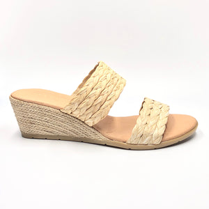 Raffy - The Raffia 2 Band Espadrille in Natural