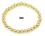 Load image into Gallery viewer, The 6mm Beaded Stretch Bracelet in Gold