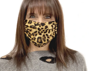 The Adult Face Mask in Leopard Print