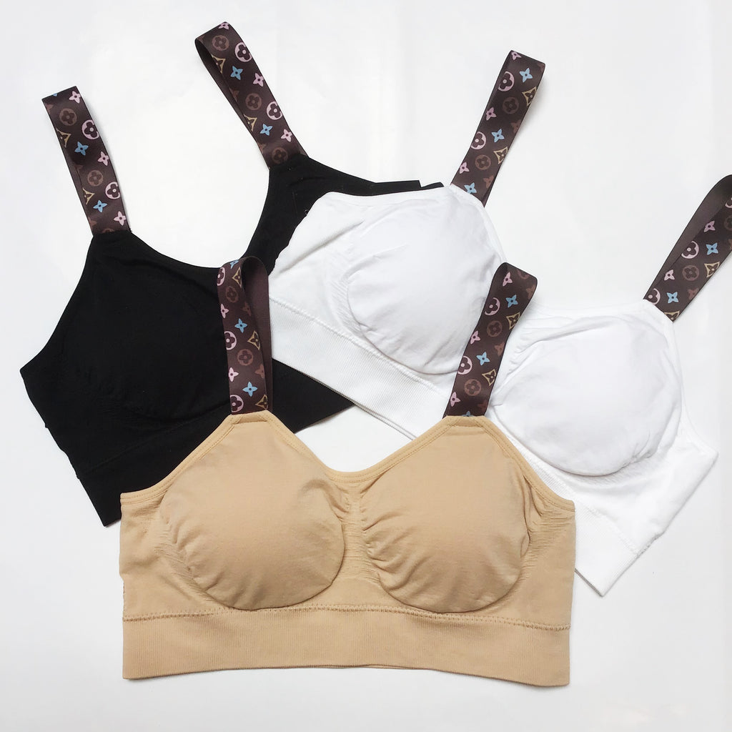 LoVe - The Love strap in White by Strap Its.Soft, comfortable, seamless and supportive. A bra designed to show off the straps! Comes with removable pads.