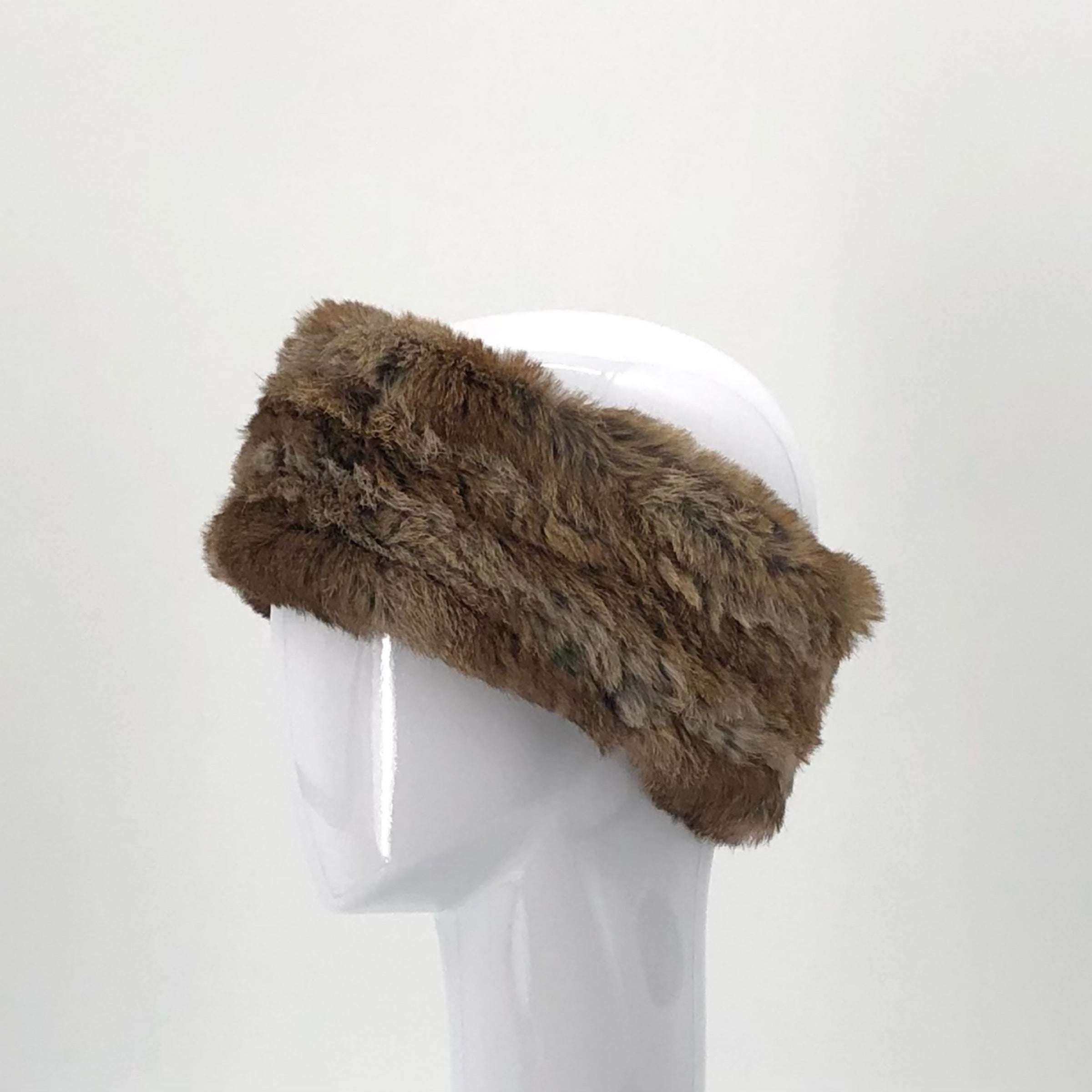 The Stretch Fur Headband in Goma