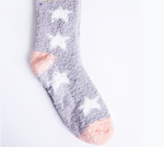 Load image into Gallery viewer, The Plush Sock in Grey with Stars