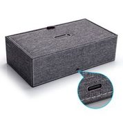 Phunkee Tree FABRICUV - The Fabric UV Sanitizing Box. The Fabric UV Sanitizing Box disinfects your personal belongings keys, pens, jewelry, headphones, or anything else Featuring a powerful antibacterial UV light, coupled with advanced ionizer technology, it safely eliminates 99.9% of bacteria on your belongings in just 10 minutes.