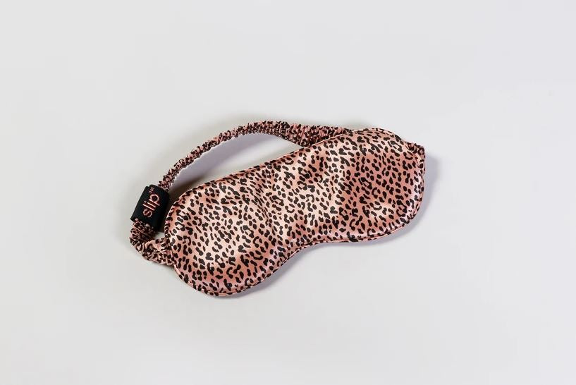 The Silk Sleep Mask in Leopard