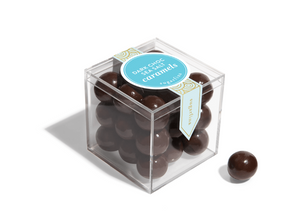 The Candy Cube of Dark Chocolate Sea Salt Caramels