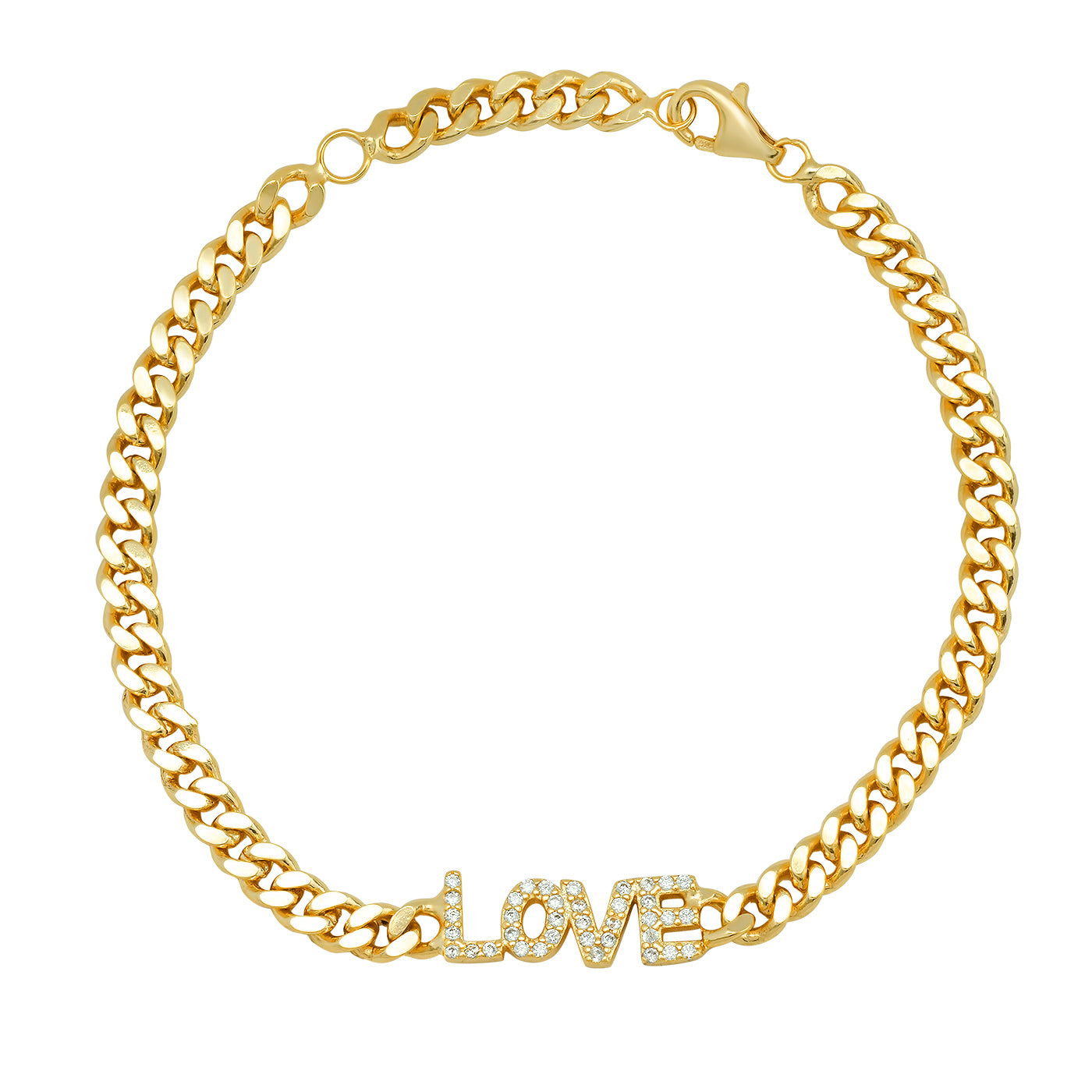 The Link Love Chain Bracelet in Gold