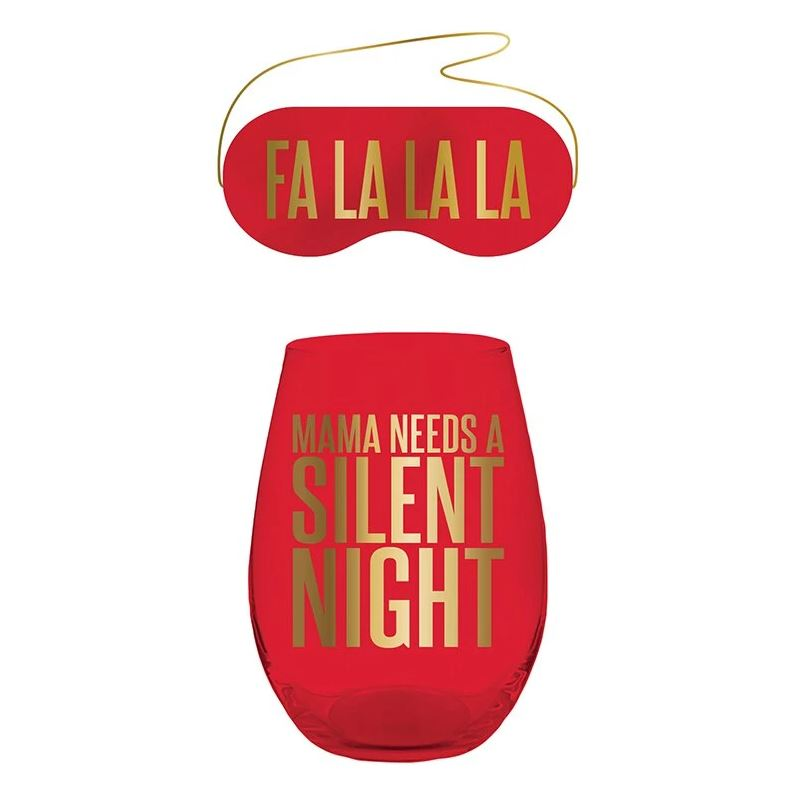 "The ""Fa La La La, Mama Needs a Silent Night"" Gift Set in Red"
