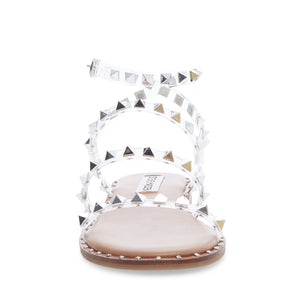 The Studded Gladiator Sandal in Clear
