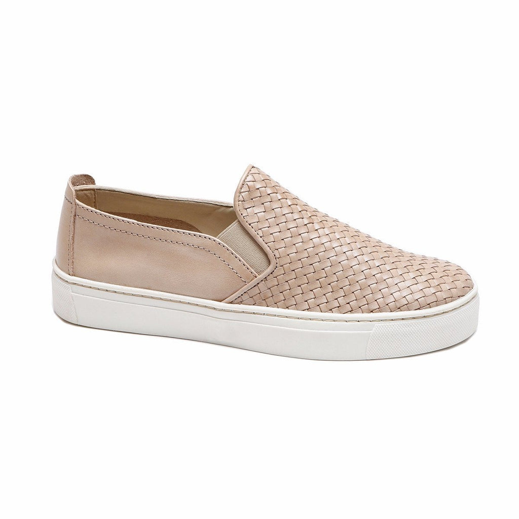 The Woven Iconic Slip-On Sneaker in Corda Flexx. This iconic best selling sneaker in supple woven leather is fashionable & versatile. A must have for every wardrobe!