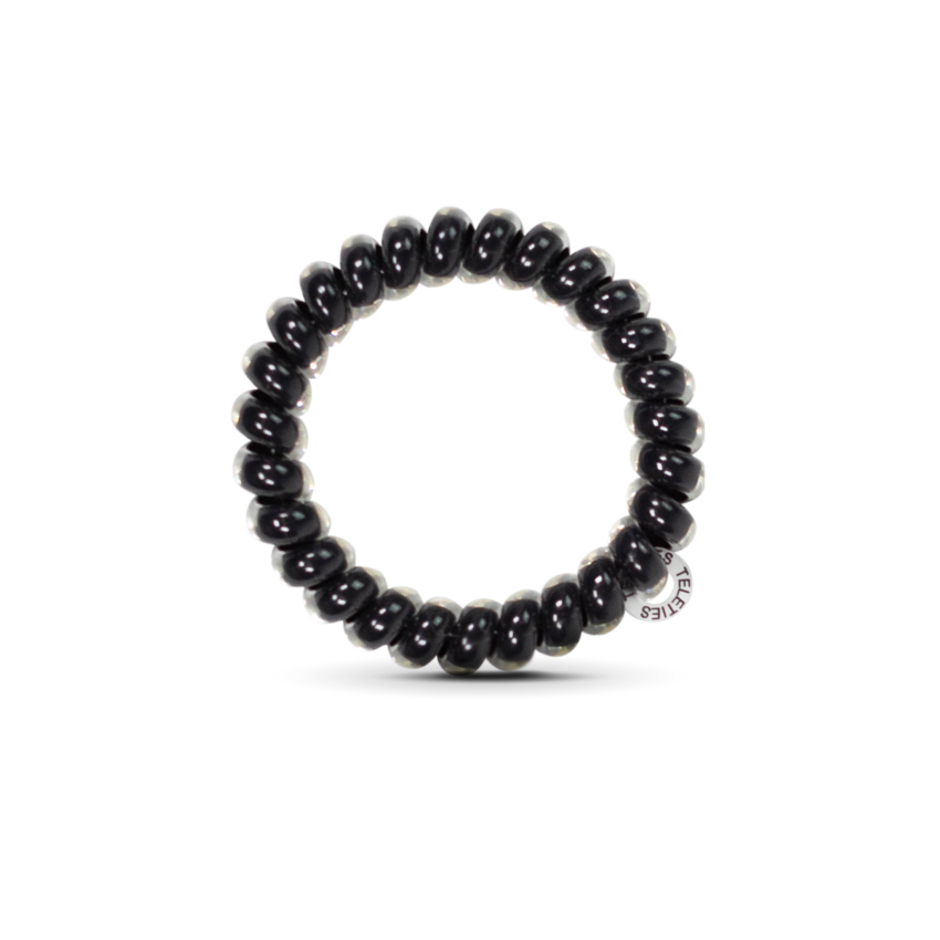 The Coil Hair Band in Jet Black
