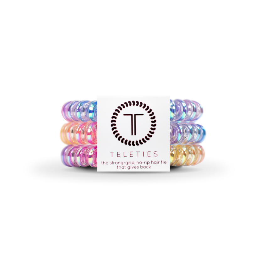 The Coil Hair Band in Glitter Rainbow