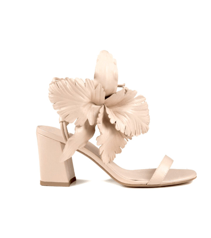 The Flower Sandal in Nude