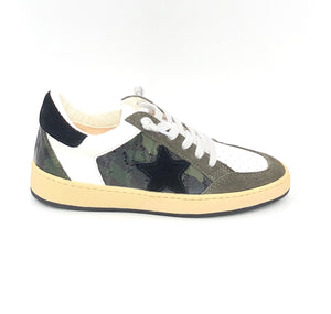 The Camouflage Star Sneaker in White Army