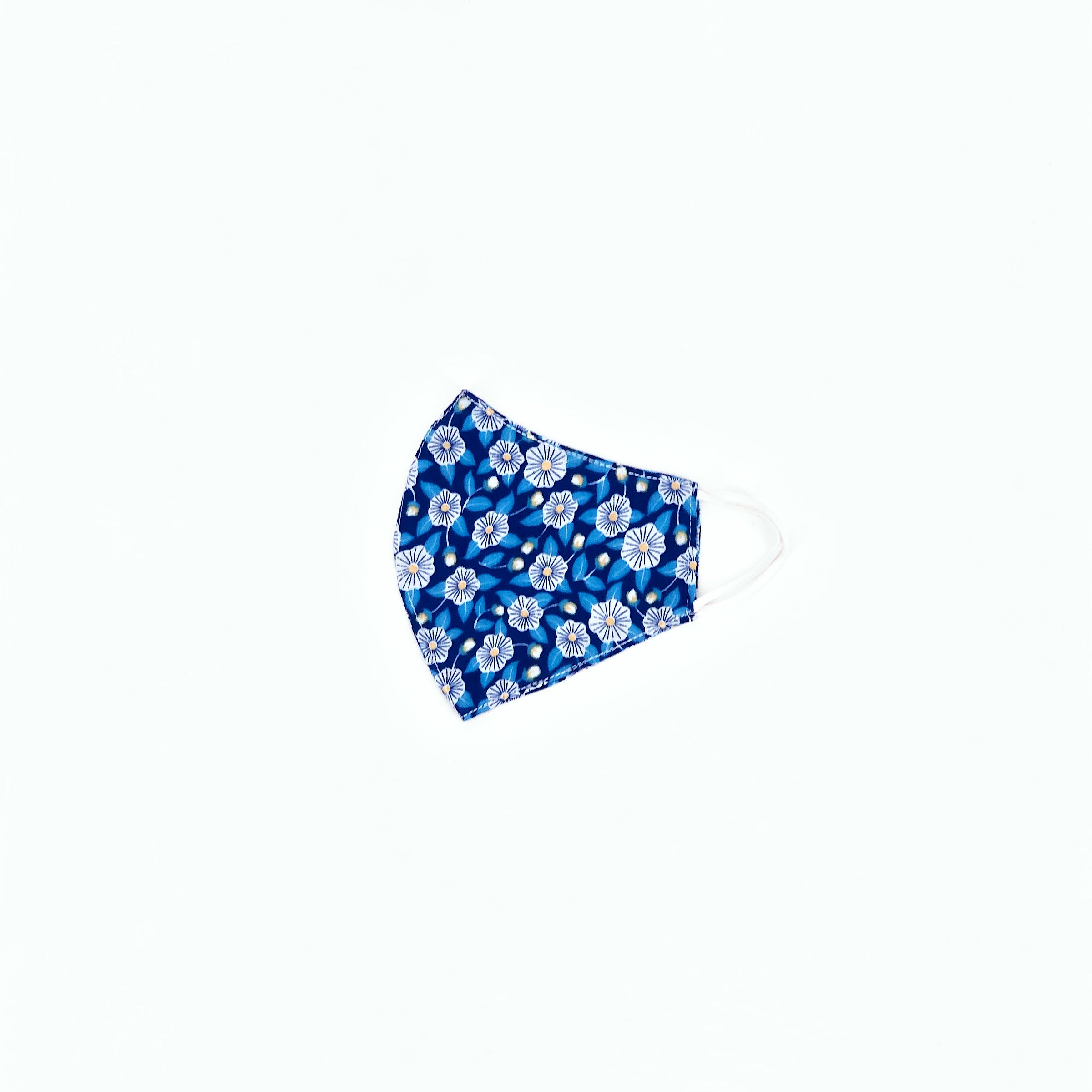 The Face Mask in Blue Poppy Print