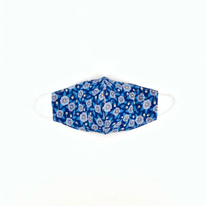 Walker and wade. OCEAN - The Face Mask in Blue Poppy Print. Get covered with this stylish and comfortable lifestyle mask. 3 layers of fabric to offer protection. Non-medical grade mask. Not returnable..