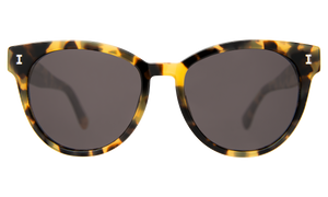 York - Sunglasses in Tortoise by Illesteva. The York is an acetate frame with a slight hint of cat-eye that embodies the idea of bridging the classic style with a modern twist. Easy and elegant, perfect for everyday use. Complimentary case. Handmade in Italy
