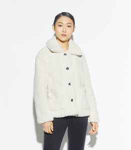 The Faux Fur Sherling Jacket in Ivory