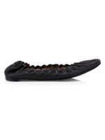 Load image into Gallery viewer, JaneP - The Almond Toe Scalloped Ballet Flat in Black