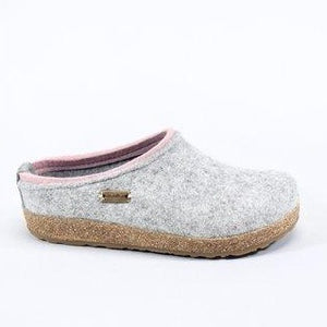 The Wool Clog in Silver Grey