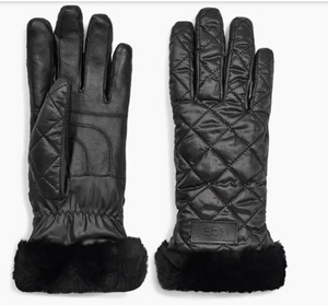 The Quilted All Weather Glove in Black