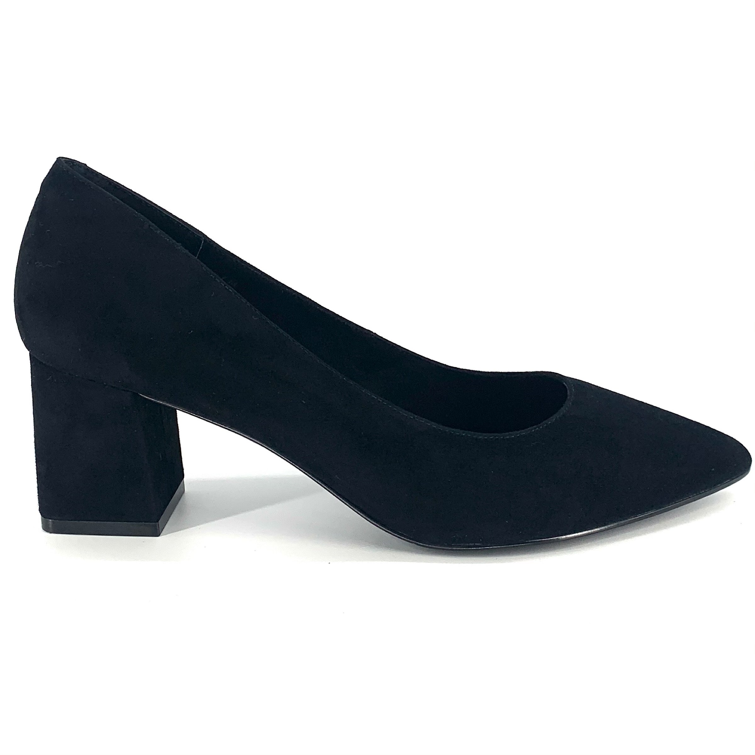 The Perfect Block Heel Pump in Black