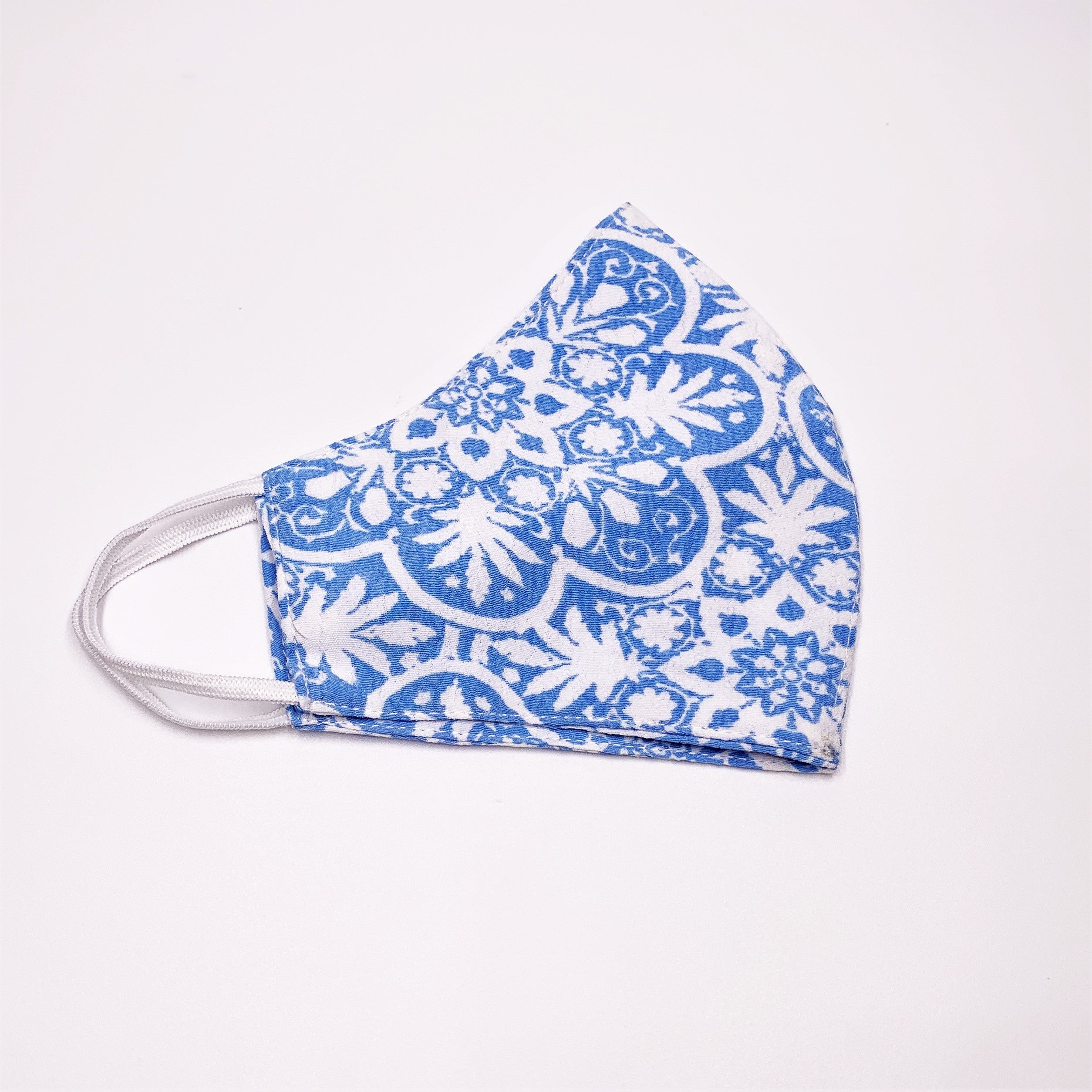 The Face Mask in Floral Blue Print