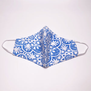 Walker and  Wade PERIWINKLE - The Face Mask in Floral Blue Print. Get covered with this stylish and comfortable lifestyle mask. 3 layers of fabric to offer protection. Non-medical grade mask. Not returnable.
