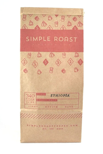Ethiopian Natural Sidamo Fair Trade/Organic - Light Roast