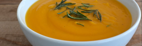 Maple Rosemary Squash Bisque Soup