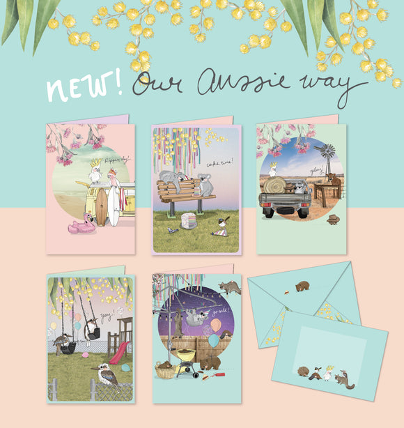'Our Aussie Way' Greeting Cards