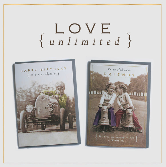 'Love Unlimited' Greeting Cards by Pigment