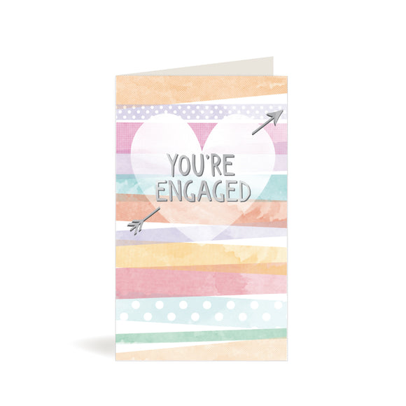 Greeting Card - Engagement - Pastel Heart