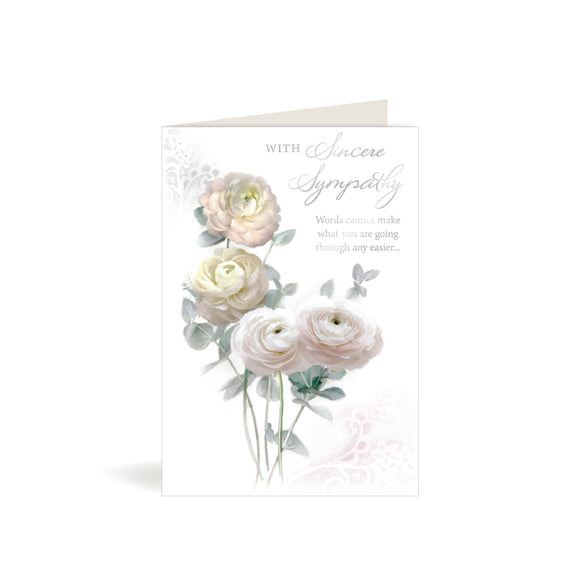 Greeting Card - Sympathy - Soft Pink Roses