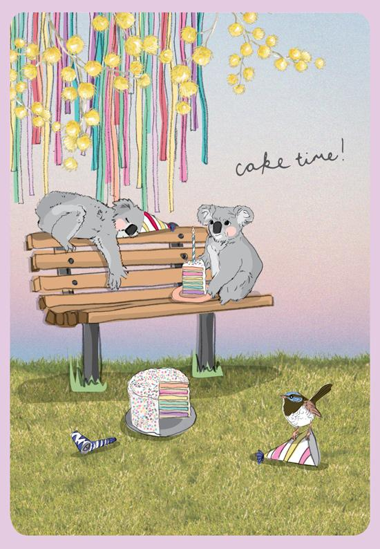 Greeting Card - Our Aussie Way, 'A Party in the Park' (Australian Happy Birthday)