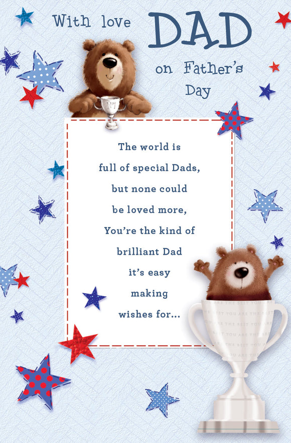 Father's Day Greeting Card - Teddy Dad