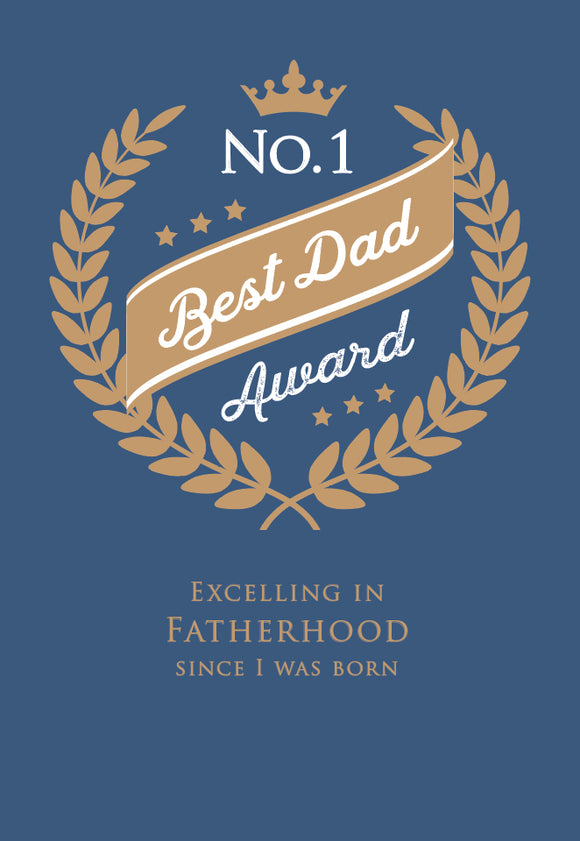 Father's Day Greeting Card - No. 1 Dad Award