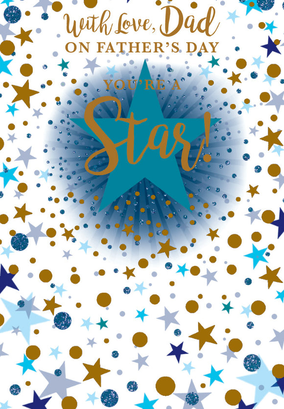 Father's Day Greeting Card - Star Dad