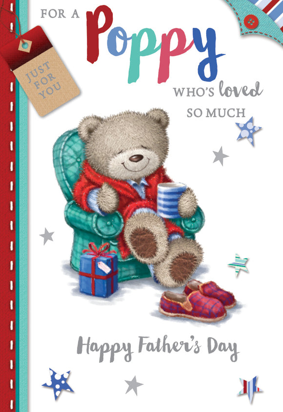 Father's Day Greeting Card - Poppy in Pjs
