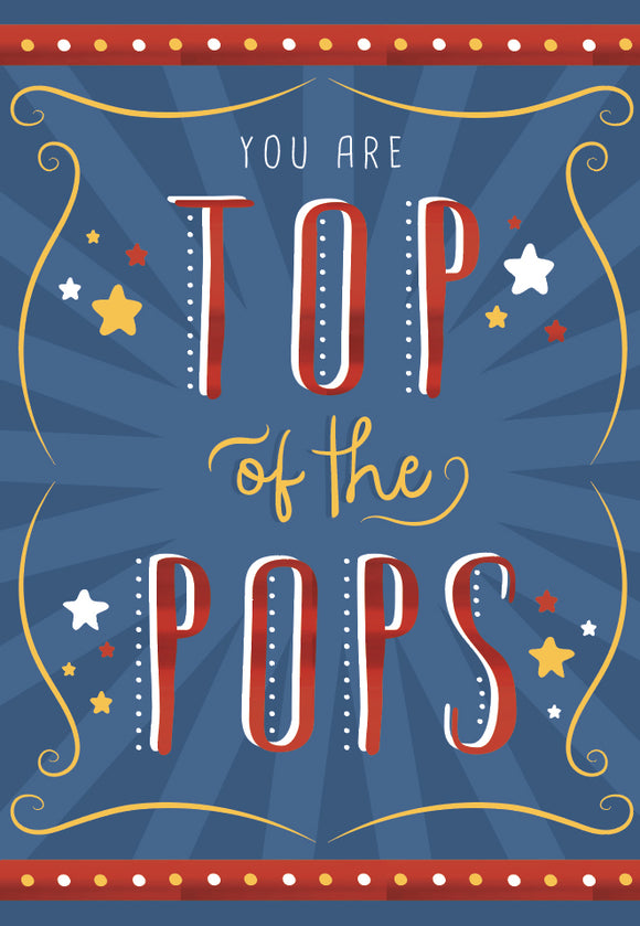 Father's Day Greeting Card - Top of the Pops