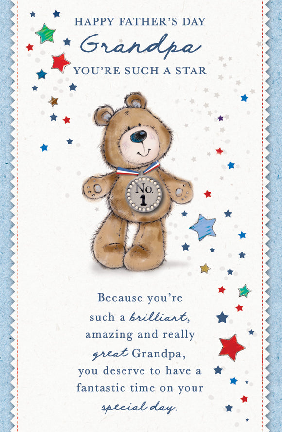 Father's Day Greeting Card - No. 1 Bear
