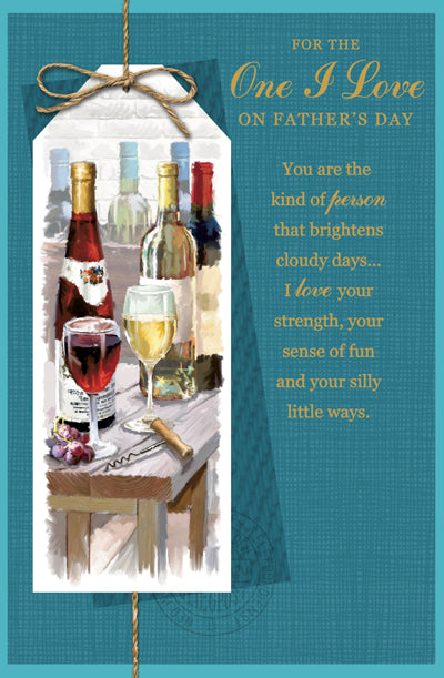 Father's Day Greeting Card - Wine Celebration