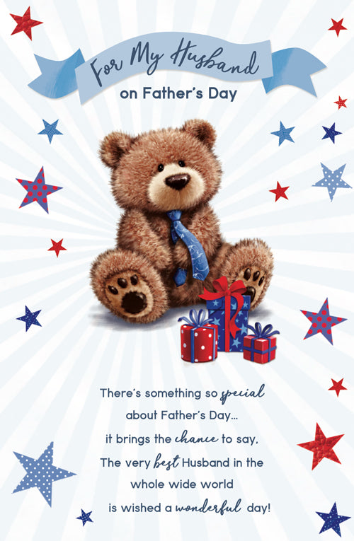 Father's Day Greeting Card - Teddy Present