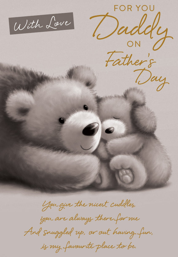 Father's Day Greeting Card - Baby Bear