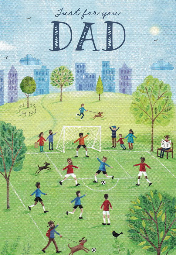 Father's Day Greeting Card - Soccer