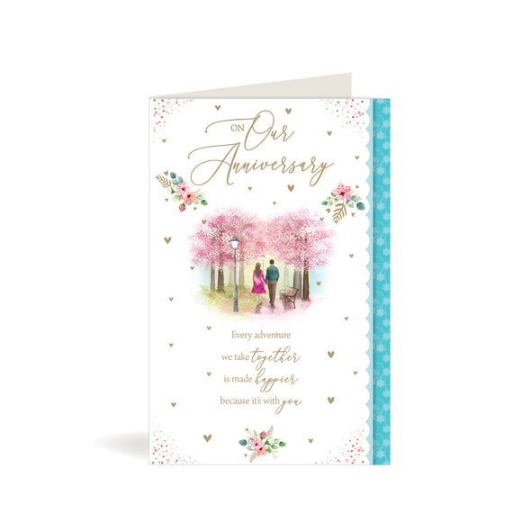 Greeting Card - Our Anniversary - Couple Holding Hands