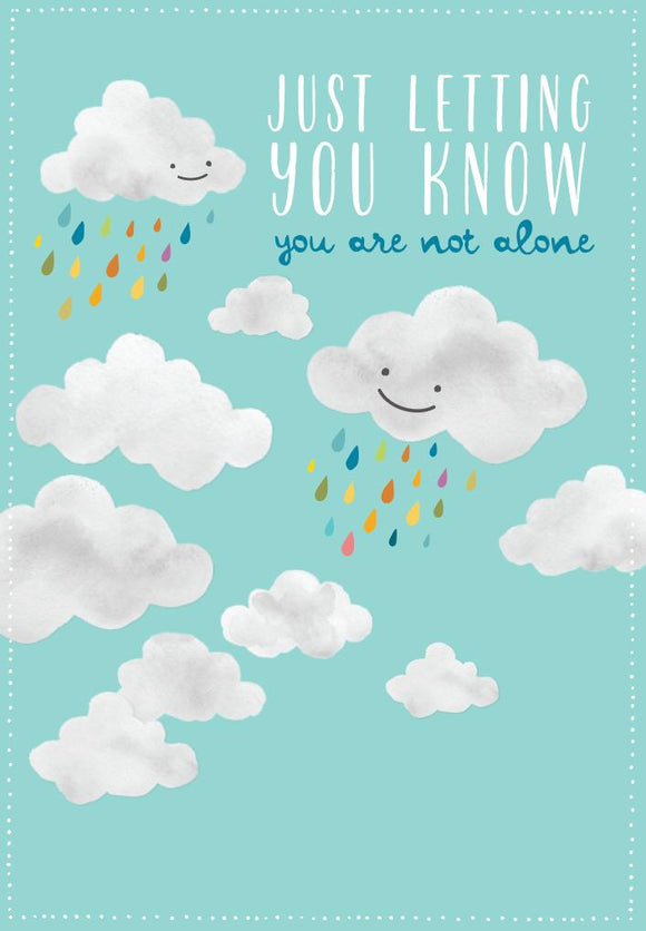 Greeting Card - 'Care' Not Alone Clouds