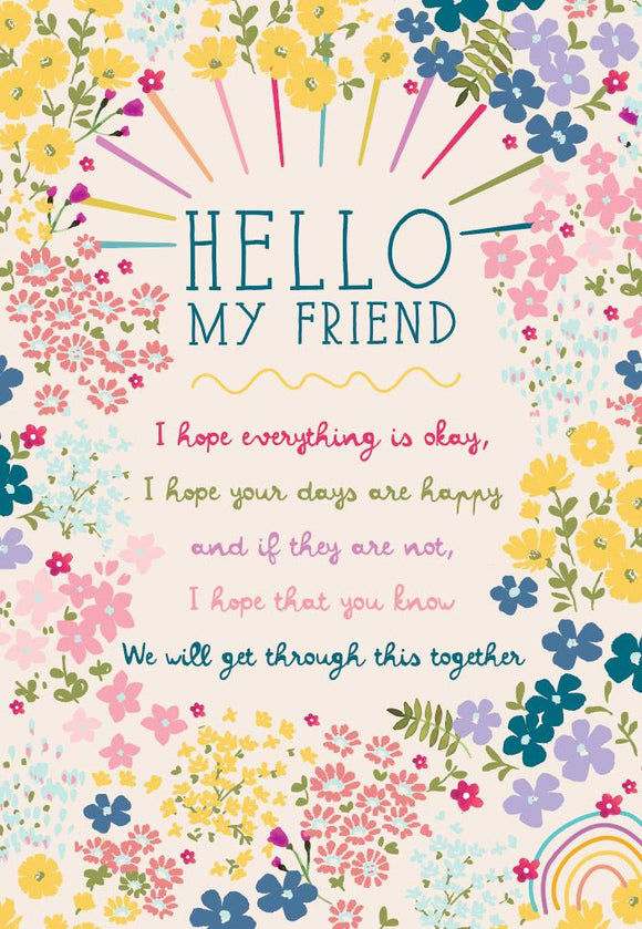 Greeting Card - 'Care' Friend Floral