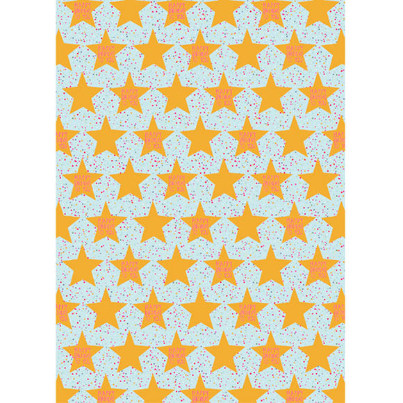 Gift Packaging Wrapping Paper Birthday Star