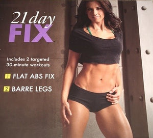 21 Day Fix Flat Abs Fix Barre Legs & Plyo Fix Bonus Workouts 2 DVD Program - Aydenns