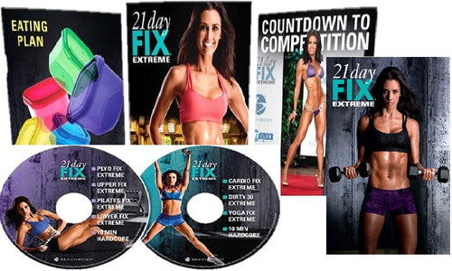 21 Day Fix Extreme Workout Program Base Kit Complete Fitness DVD Set - Aydenns